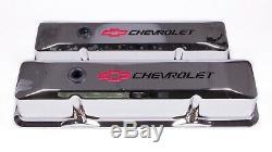 141 117 Sbc Chrome Die Cast V/C's Tall WithBaffle