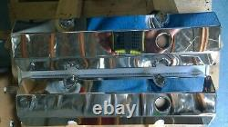 1958-1986 Small Block Chevy Chevrolet Chrome Aluminum Fabricated Valve Covers