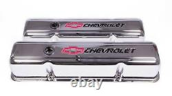 1959-1964 Impala Bel Air Biscayne small block BOWTIE CHROME tall valve cover kit
