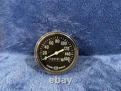 1960's Stewart Warner Mechanical Speedometer Gauge 3-3/8 160mph vintage
