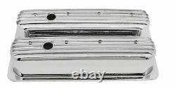 1987-97 Chevy 5.0l & 5.7l Tall Chrome Aluminum Center Bolt Valve Covers Finne