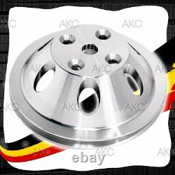 1 Groove Chrome Aluminum Water Pump Pulley For 69-85 Chevy Sb Long Water Pump