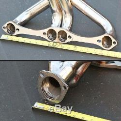 262-400 4.3-6.6 Angle Plug Hugger Tight Fit Header Exhaust For Sbc Small Block