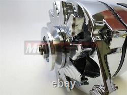 55up Chevrolet GM Chrome 140 AMP High Out Put Alternator 1 Wire SBC BBC Hot Rod