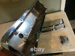 58-86 Chevy Small Block Chevy Chrome Aluminum Ball Milled Tall Valve Cover SBC