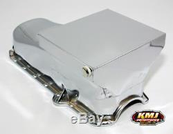80-85 SBC Chevy Chrome Drag Race Style Oil Pan 7qt 305 350 Small Block