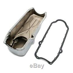 80-85 Small Block Chevy SBC 350 Stock Capacity Oil Pan Chrome Finish With Gasket