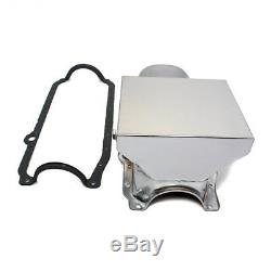 86-02 Chevy 350 Chrome 7qt Drag Style Oil Pan 1 Pc Rear Main Seal SBC With Gasket