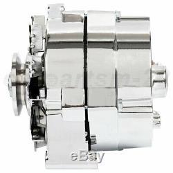 Alternator for Chrome BBC SBC Chevy Street Rod 110 AMP 1-Wire 240-204-3DC 12V