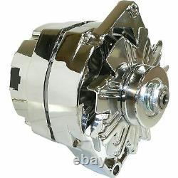 Alternator for Chrome for BBC SBC Chevy 105 Amp 1 Wire High Output 400-12395