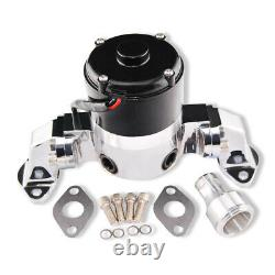 Aluminum Chrome 35 GPM High Flow Electric Water Pump For SBC 350 Chevy Engines