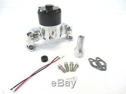Aluminum SBC 350 Chevy High Flow Electric Water Pump Chrome BPK-1107C