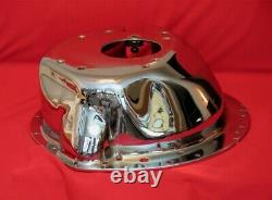 BBC SBC CHEVY ENGINE TO FORD TOPLOADER / BW SCATTERSHIELD Chromed Lakewood