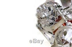 CHROME Aluminum Chevy Alternator Bracket SBC LWP 283 305 350 street hot rat rod