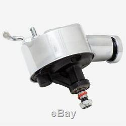 CHROME Power Steering Pump Aluminum Pulley Bracket Chevy Saginaw P Pump 327 350