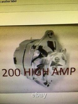 Chevrolet Gm Chrome Corvette Sbc Bbc Chevy 1 Wire Alternator High Output 200 Amp