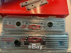 Chevy Bowtie Chrome Valve Covers -Small Block 1987+ 141-107 12355350