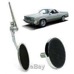 Chevy Firewall Mount Throttle Gas Pedal/ Brake Pad Chrome Camaro LS 350 Chevelle