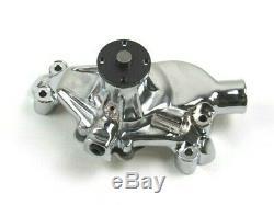 Chevy SBC 327 350 Alum. Short Reverse Rotation Water Pump Chrome BPK-1036C