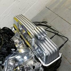 Chevy SB Chrome Tall Finned Engine Valve Covers Breathers L48 V8 327 350 58-79