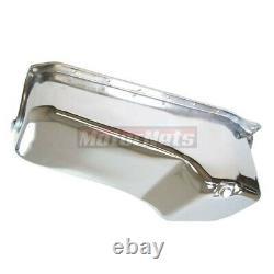 Chevy Small Block 1986-UP Chrome Oil Pan 283 305 327 350 400 V8 Stock SBC HotRod