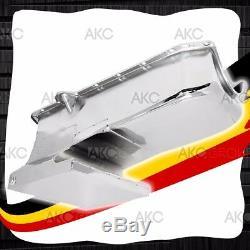 Chrome 6qt Drag Racing Oil Pan For 62-67 Chevy II Nova 80-85 Small Block 283 400