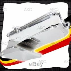 Chrome 6qt Drag Racing Oil Pan For 62-67 Chevy II Nova 86-02 Small Block 283 400