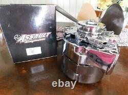 Chrome Alternator 1 or 3 Wire SBC BBC Chevy Pontiac 120 Amp GM style VR