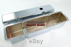 Chrome Aluminum Small Block Chevy SBC TALL Valve Cover Ball-Mill 283 305 327 350