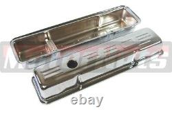 Chrome SBC Chevy Dress Up Kit 350 Logo Tall Valve Covers Air cleaner Small Block