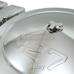 Chrome SBC Small Block Chevy Dress Up Kit 327 Logo Short Valve Cover Air cleaner