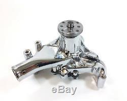 Chrome SB Chevy Water Pump Long SBC 283 327 350 383 High Volume Chrome Aluminum