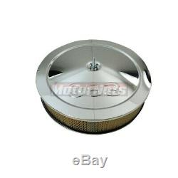 Chrome Small Block Chevy Dress Up Kit 383 Logo Tall Valve Covers Air cleaner SBC