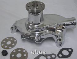 Chrome Small Block Chevy High Volume Short Water Pump SBC 283 305 327 350 400