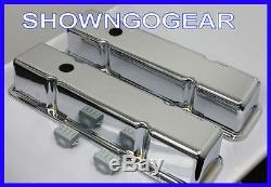 Chrome Smooth Aluminium Rocker Covers Sbc Chev Drag Hotrod Awesome Chevy Burnout