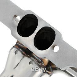 Fit 55-57 Sbc Small Block Hugger V8 265/283 Tri-5 Exhaust Manifold Shorty Header