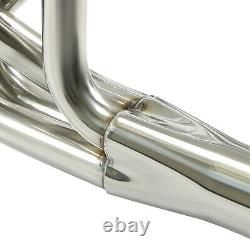 Fit Chevy Sbc 260-400 V8 Stainless Steel Street Stock Header Exhaust Manifold