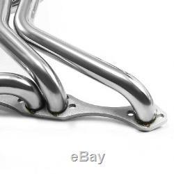 Fit GM Chevy SBC 65-74 Small Block V8 283-400 Long Tube Header Manifold Exhaust