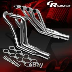 For 67-74 Sbc V8 Ls1-ls6 Swap Stainless Long Tube Exhaust Manifold Header+gasket