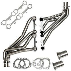 For 84-91 Gmt C/k 5.0/5.7 Sbc Stainless Racing Manifold Long Tube Header/exhaust
