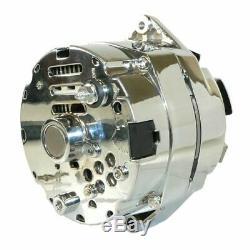 For CHROME BBC SBC CHEVY GM Alternator 1 Wire Street ROD-HIGH Output ADR0335-C