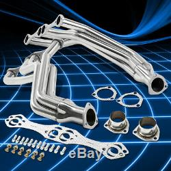 For Chevy SBC Small Block V8 265-400 S. Steel Fenderwell Header Manifold Exhaust