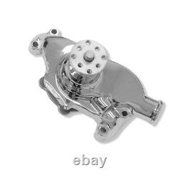 For Small Block Chevy 283 302 327 350 Chrome High Volume Short Water Pump Alumin