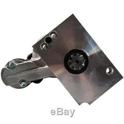 For Small Block Chevy Chrome Mini Starter 3HP 153 or 168 Tooth 327 350 400 SBC