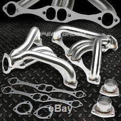 For Small Block Hugger Sbc 262-400 283 Angle Plug Head Manifold Tight Fit Header