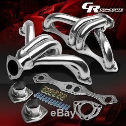 For Small Block Sbc 283/305/327/350/400 Chromed Hugger Header Exhaust Manifold