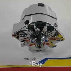 GM Chrome 100 Amp High Performance 1-Wire Alternator V-Belt New SBC BBC Chevy