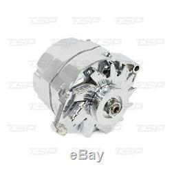GM Style Chrome 1 One or 3 Three Wire SBC BBC Chevy Pontiac Alternator 120 Amp
