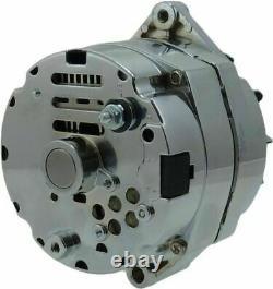 Gm Chrome 120 Amp 1 Wire Sbc Bbc Chevy Alternator High Amp 7127se-120-c