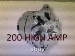 HIGH OUTPUT 200 AMP CHEVROLET GM CHROME Cadillac SBC BBC CHEVY 1 WIRE ALTERNATOR